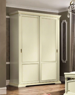 Camel Treviso Night White Ash Italian 2 Door Sliding Wardrobe