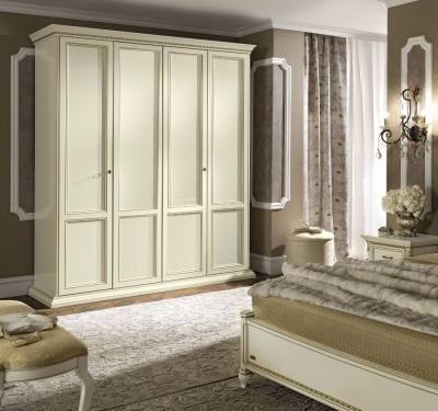 Camel Treviso Night White Ash Italian 4 Door Wardrobe
