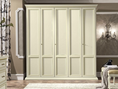 Camel Treviso Night White Ash Italian 5 Door Wardrobe
