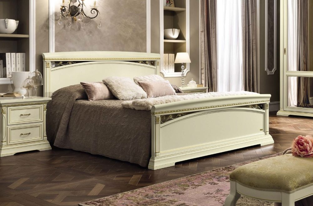 Camel Treviso Night White Ash Italian 5ft King Size Bed with Footboard