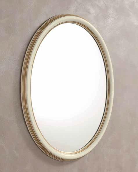 Camel Treviso Night White Ash Italian Oval Mirror - 68cm x 95cm
