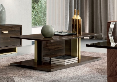 Camel Volare Day Walnut Italian Coffee Table