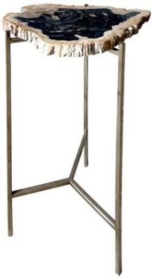 Carlton Additions Petrified Wood Side Table