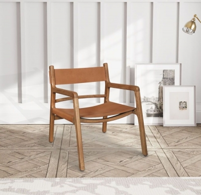 Carlton Additions Calne Tan Leather Easy Chair