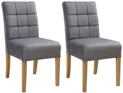 Carlton Additions Colin Plush Steel Dining Chair (Pair)