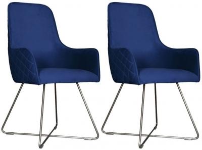 Carlton Additions Utah Plush Marine Dining Chair (Pair)