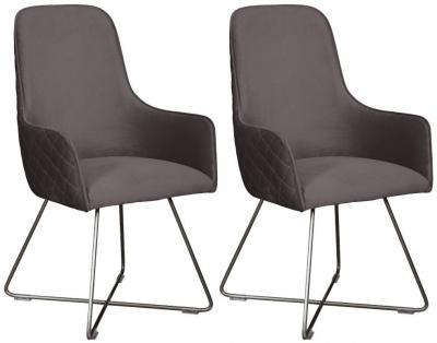 Carlton Additions Utah Plush Steel Dining Chair (Pair)