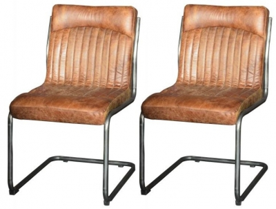 Carlton Additions Hipster Retro Vintage Brown Dining Chair (Pair)