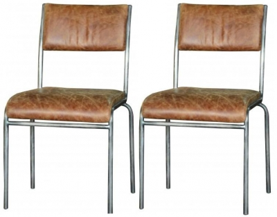 Carlton Additions Icon Padded Back Dining Chair (Pair)