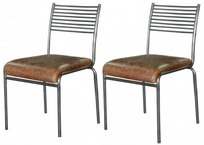 Carlton Additions Icon Metal Back Dining Chair (Pair)