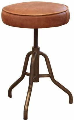 Carlton Additions Oakley Brown Leather Stool