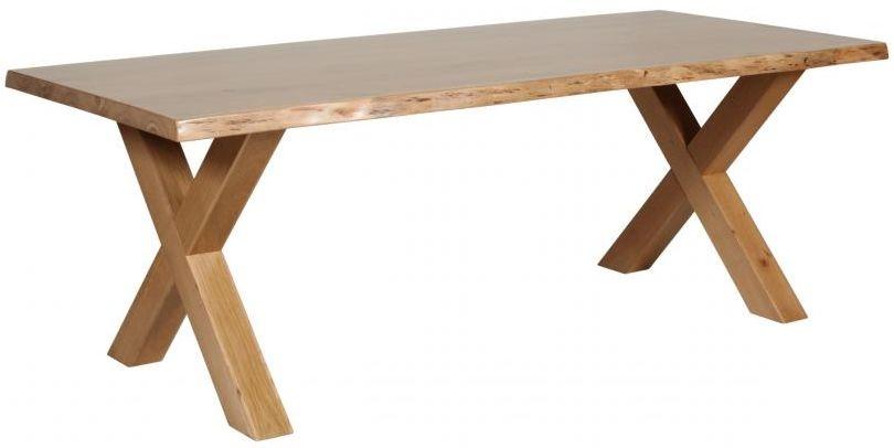 124bda7a0c85 Buy Carlton Additions Barkington Cross Leg Oak Dining Table Online - CFS UK