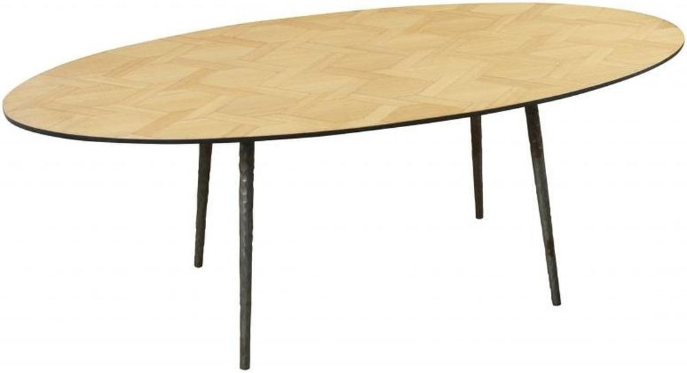 Carlton Additions Chain Link Oval Coffee Table