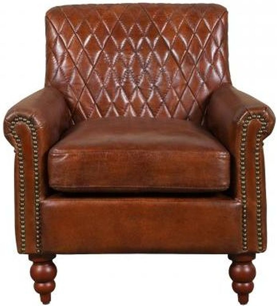 Carlton Additions Dakota Brown Leather Armchair