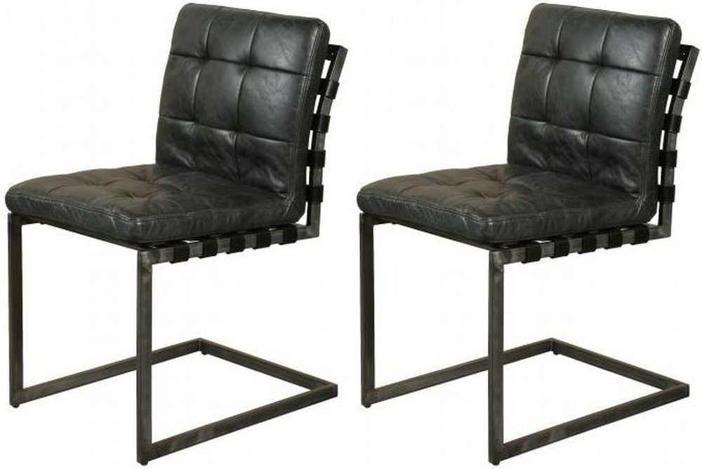 Carlton Additions Madison Strap Leather Dining Chair (Pair)