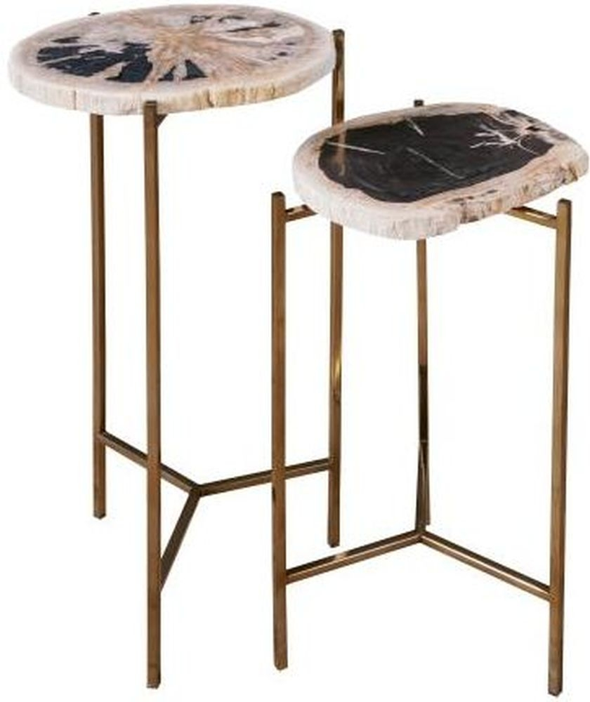 Carlton Additions Petrified Wood Tall Side Table