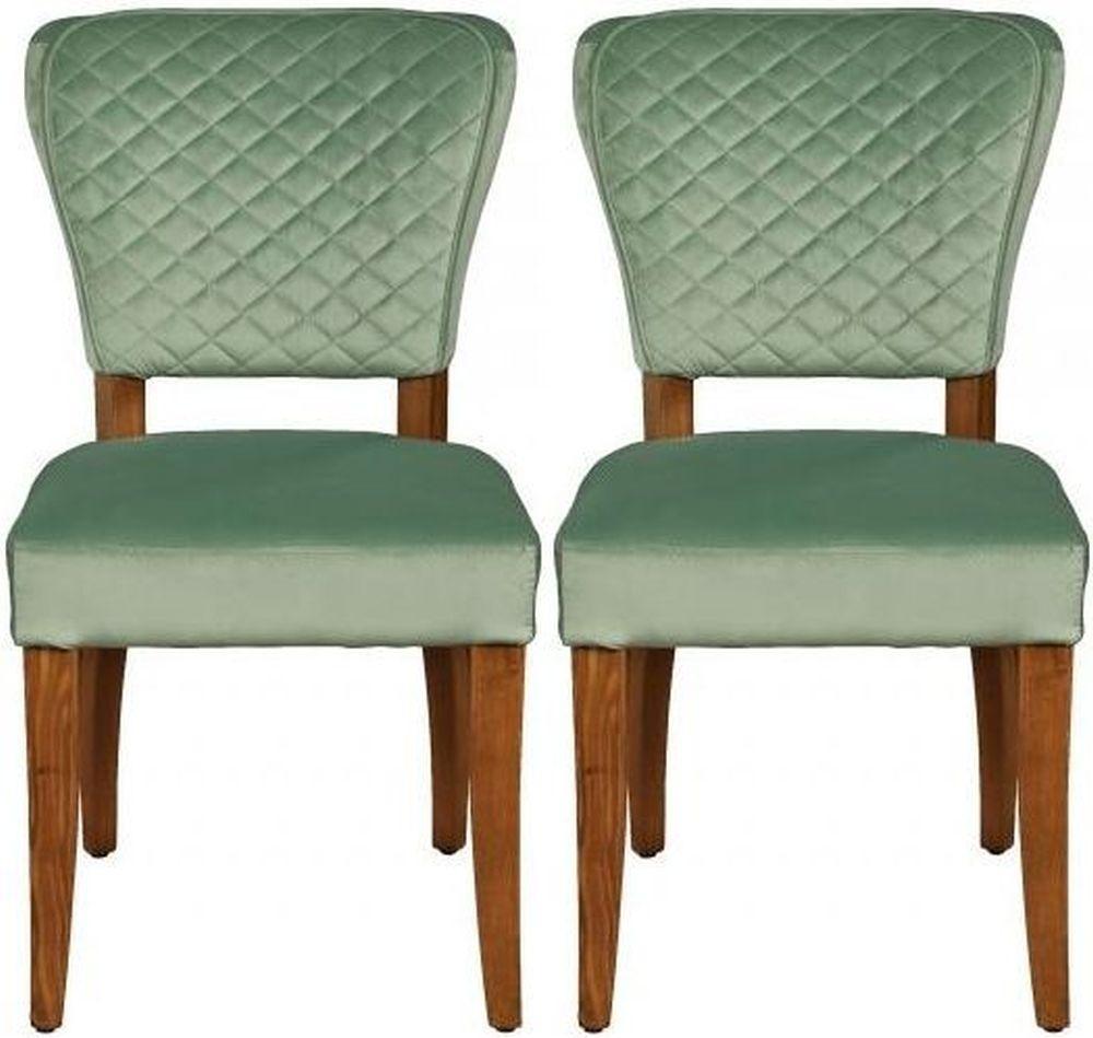 Carlton Additions Rome Duck Egg Velvet Dining Chair (Pair)