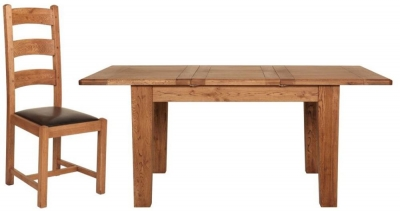 Carlton Rustic Manor 100cm Extending Dining set with 4 Chairs