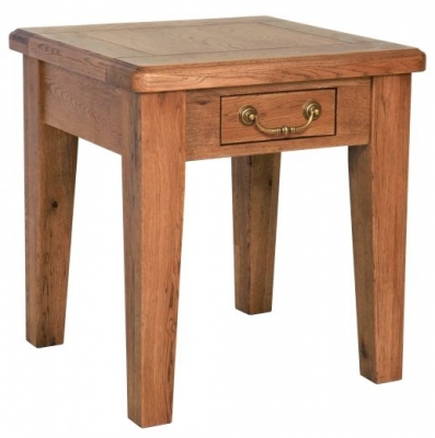 Carlton Rustic Manor Lamp Table