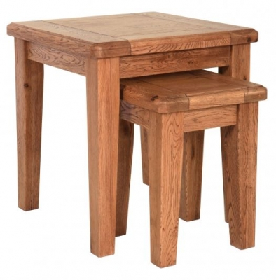 Carlton Rustic Manor Nest of Tables