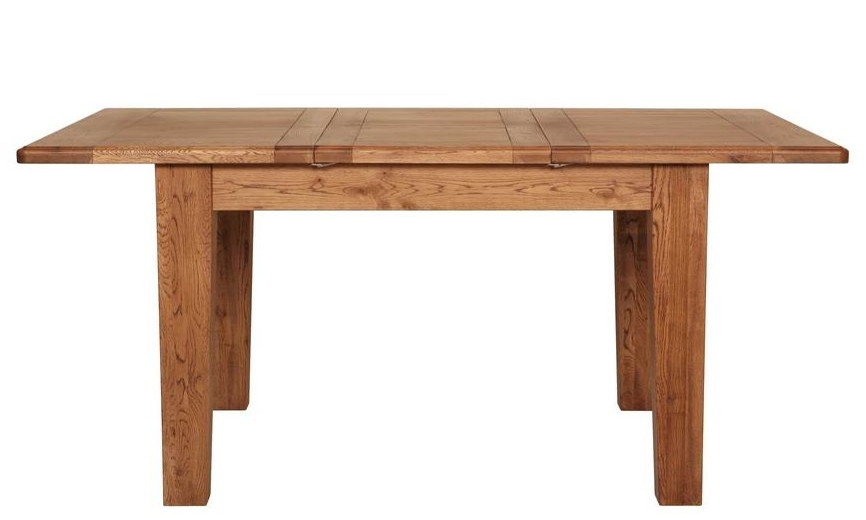Carlton Rustic Manor Oak Extending Dining Table
