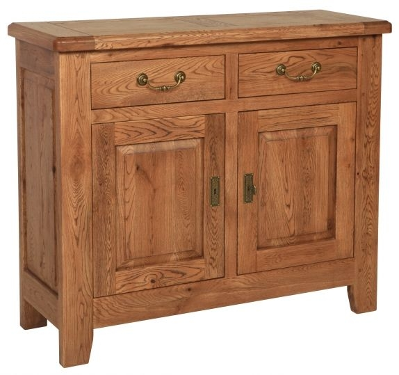Carlton Rustic Manor Oak Sideboard - 2 Door