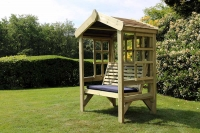 Churnet Valley Cottage 2 Seater Garden Arbour Trellis Back and Sides