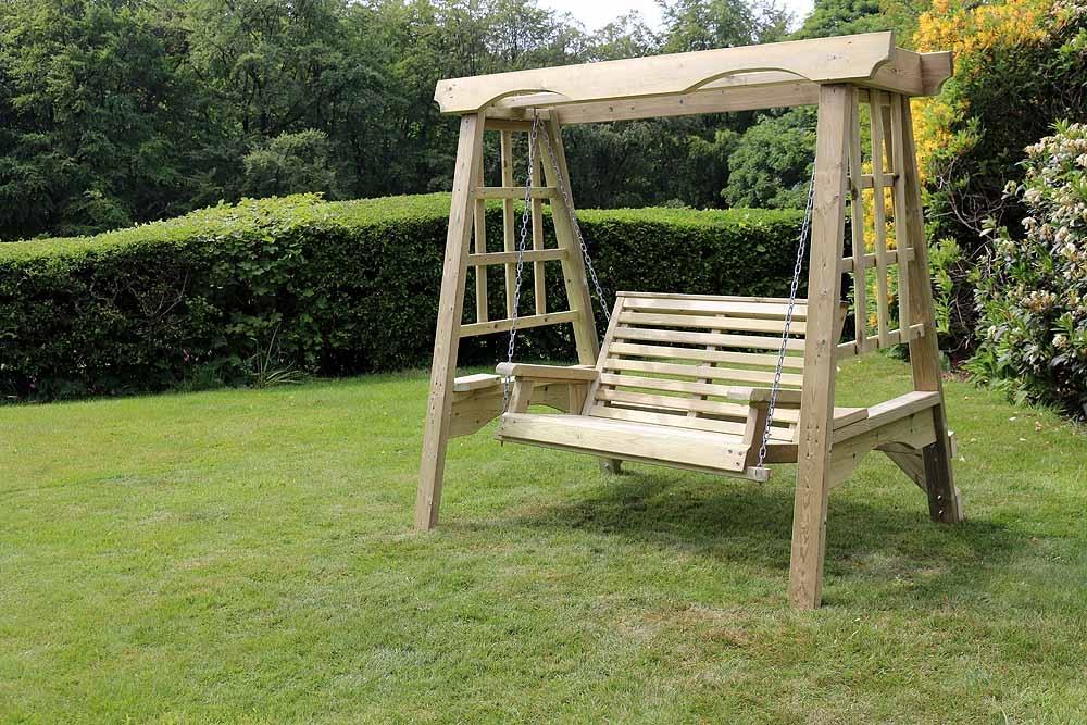 Churnet Valley Cottage Wooden 2 Seater Garden Swing