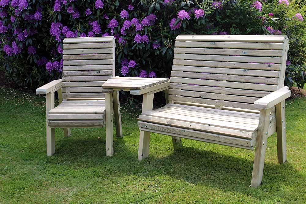 Churnet Valley Ergo Trio Garden Chair Set