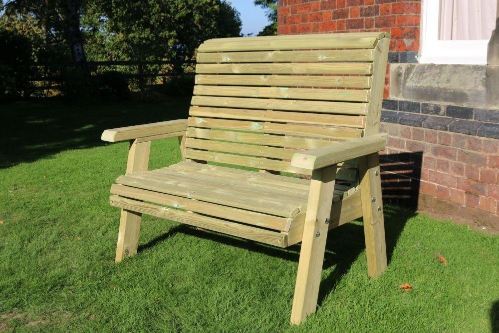 Churnet Valley Ergo 2 Seater Garden Bench