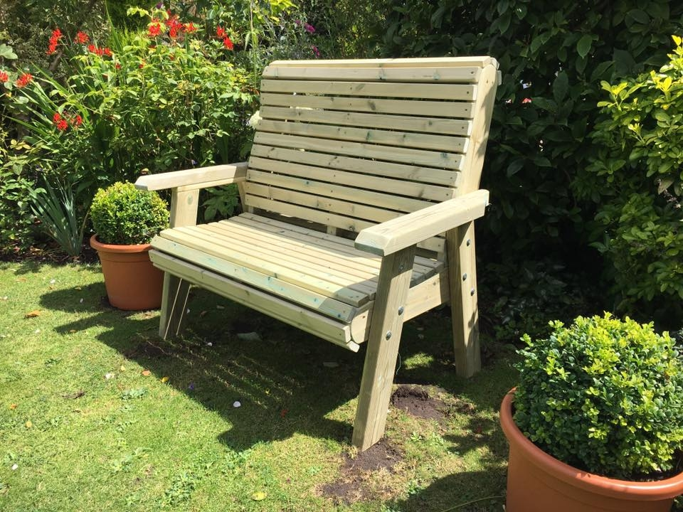 Churnet Valley Ergo 2 Seater Garden Bench