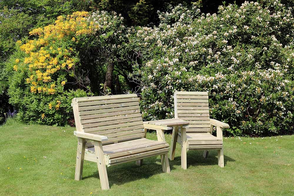 Churnet Valley Ergo Trio Garden Chair Set