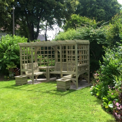 Churnet Valley Riviera Pergola Garden Seats