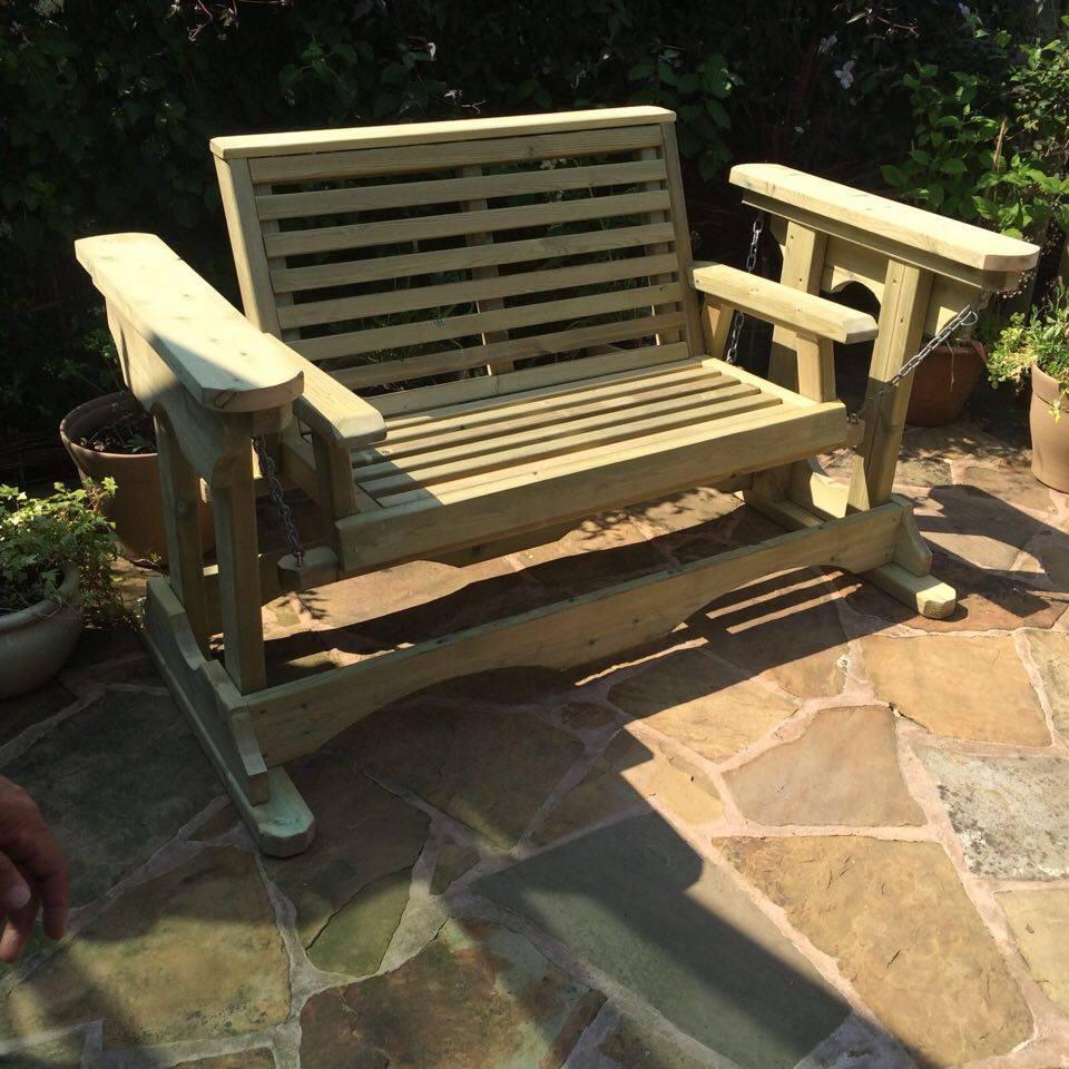 Churnet Valley Missouri Porch Glider 2 Seater Garden Swing