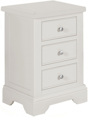 Berkeley Grey Painted 3 Drawer Bedside Cabinet