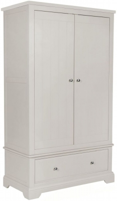 Berkeley Grey Painted 2 Door 1 Drawer Wardrobe