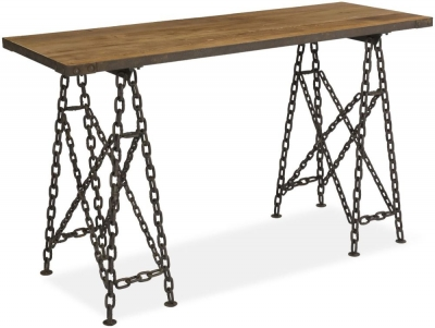 Boston Reclaimed Wood Bar Table with Chain Legs