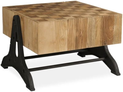 Boston Chunky Coffee Table with Iron Legs