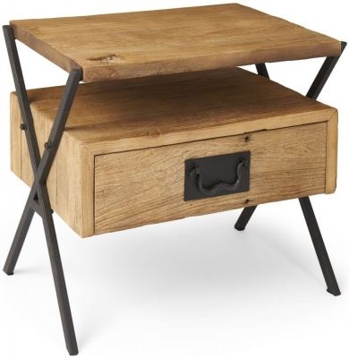 Boston Reclaimed Wood End Table