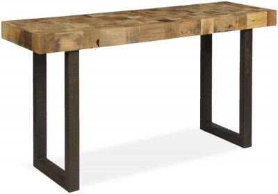 Boston Mosaic Console Table with Iron Legs