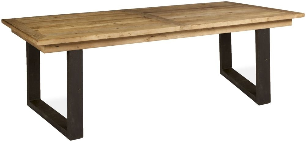 Boston Reclaimed Wood Large Dining Table with Iron Legs