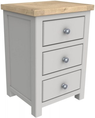 Bretagne Painted 3 Drawer Bedside Cabinet