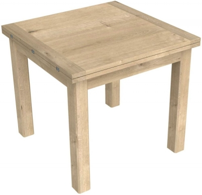 Bretagne Oak Flip Top 85cm-170cm Extending Dining Table