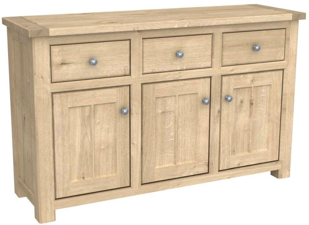 Bretagne Oak 3 Door Sideboard