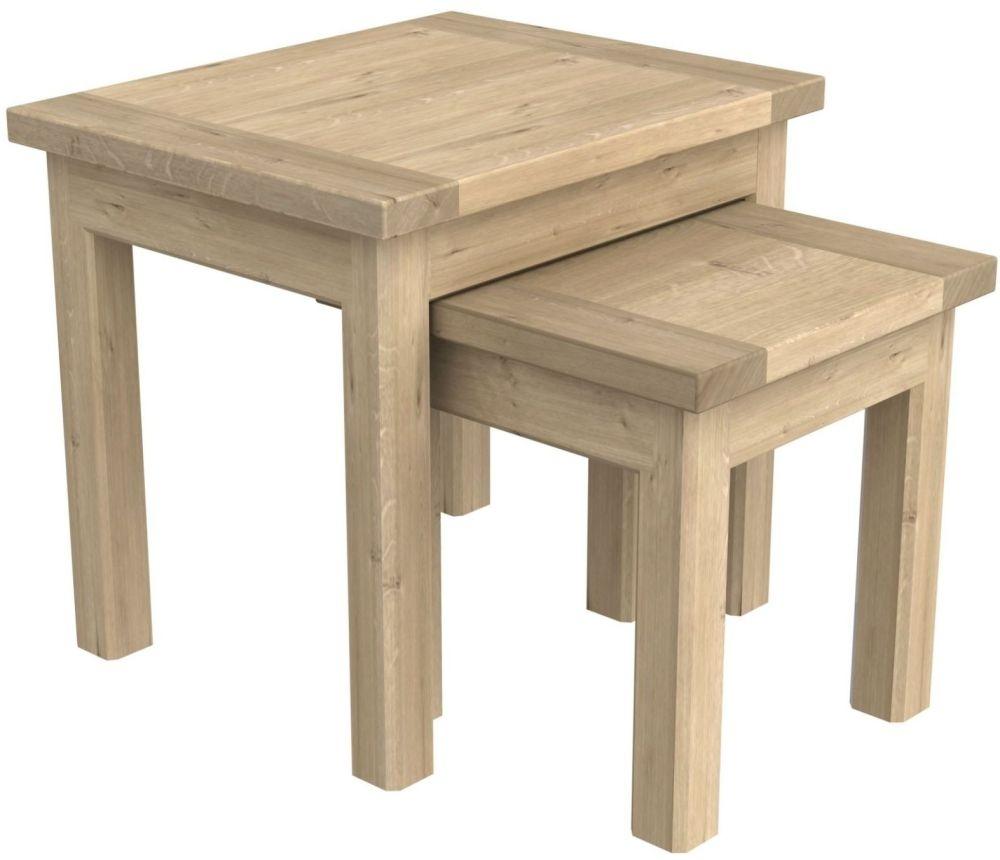Bretagne Oak Nest of 2 Tables