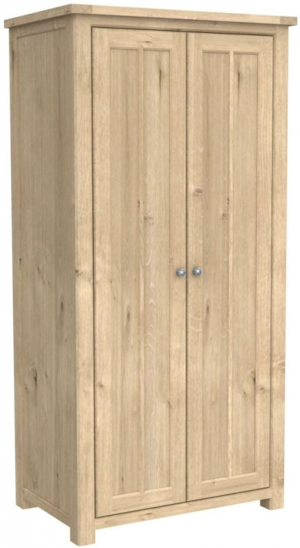 Bretagne Oak 2 Door Wardrobe