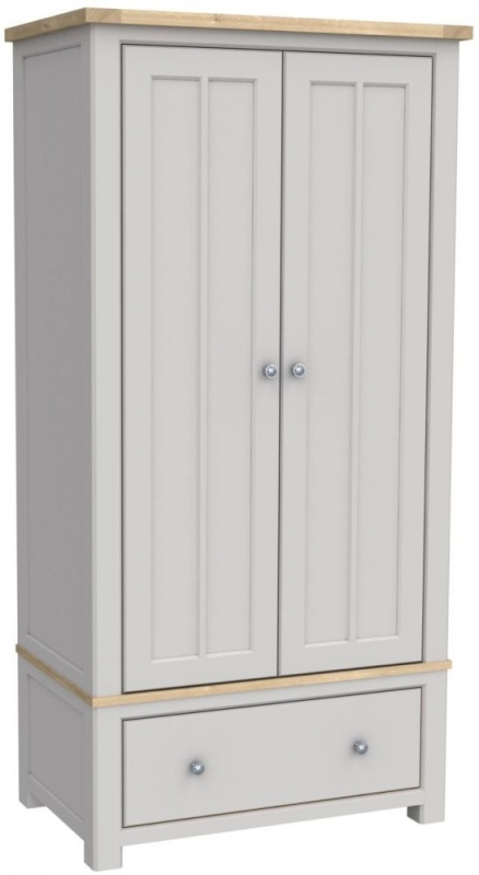 Bretagne Painted 2 Door 1 Drawer Wardrobe