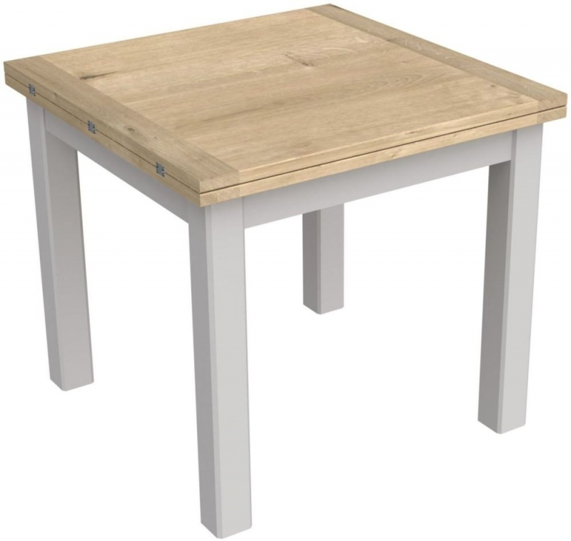Bretagne Painted Flip Top 85cm-170cm Extending Dining Table