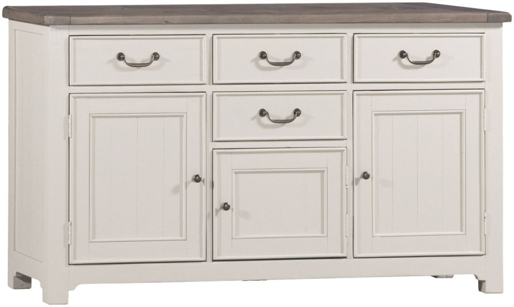 Brompton Reclaimed Sideboard - 3 Door 4 Drawer Medium