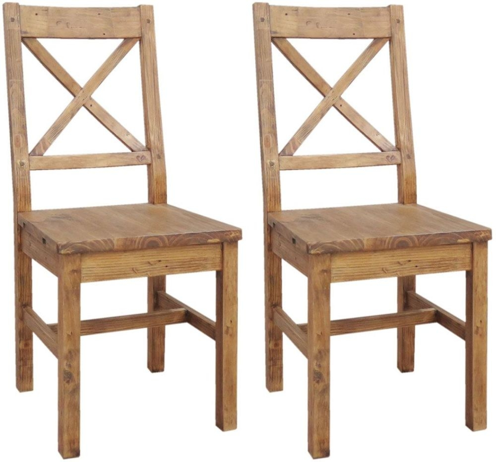 Buy Camrose Reclaimed Pine Dining Chair With Wooden Seat Pair